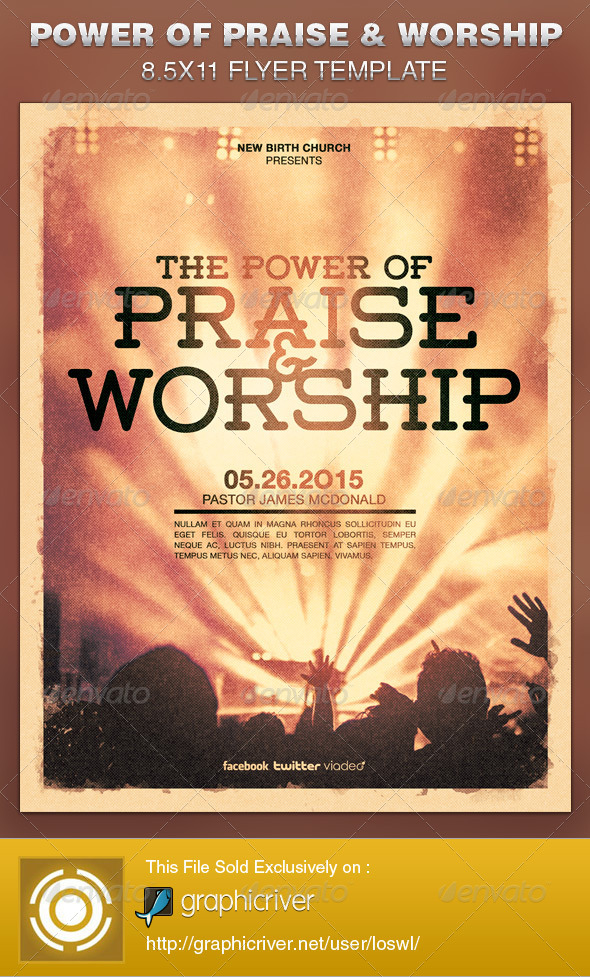 Worship Flyer Template Ibovnathandedecker