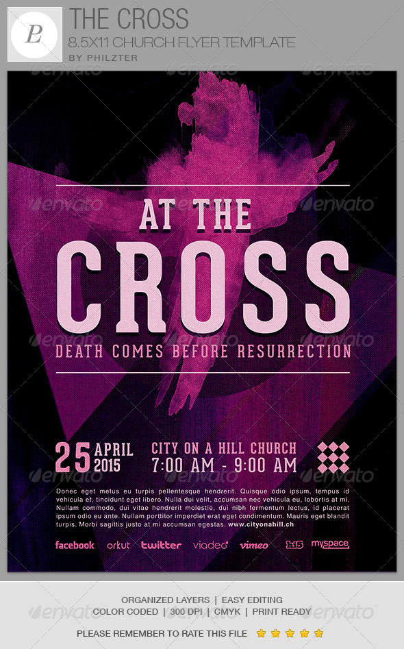 The Cross Church Flyer Template By Loswl On Deviantart