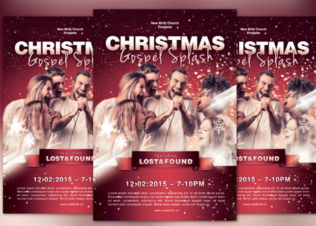 Christmas Gospel Splash Church Flyer Template By Loswl On Deviantart