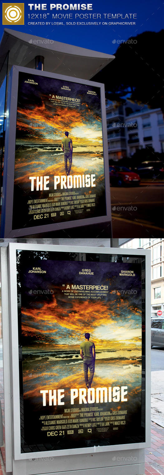 The Promise Movie Poster Template by loswl