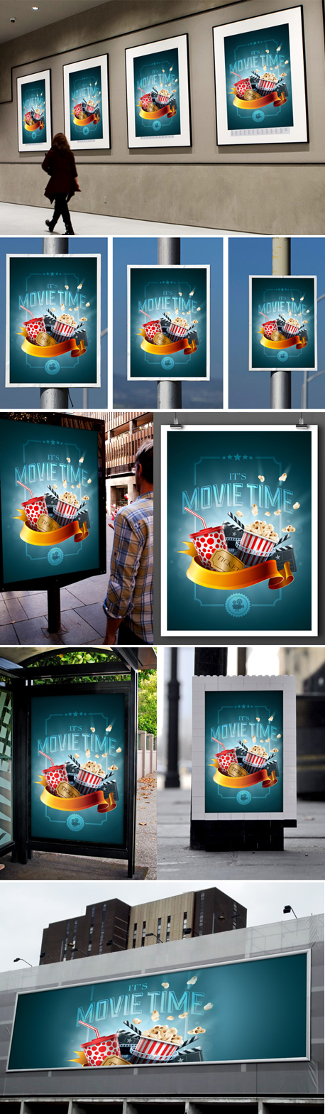 Variable Poster Mockup Template by loswl