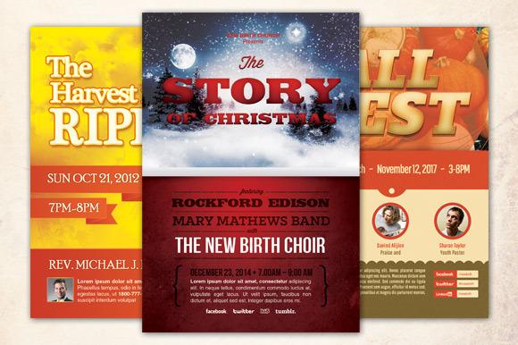 Harvest Holiday Church Flyer Bundle by loswl