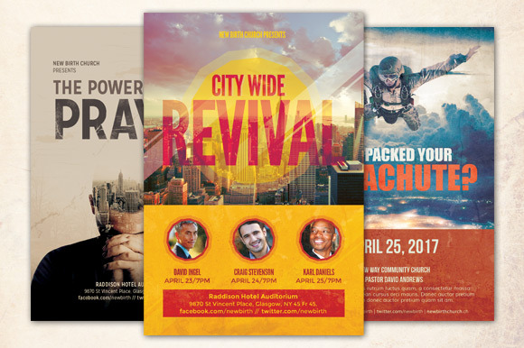 Revival Church Flyer Bundle by loswl