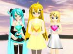 MMD Neru, Miku, Rin