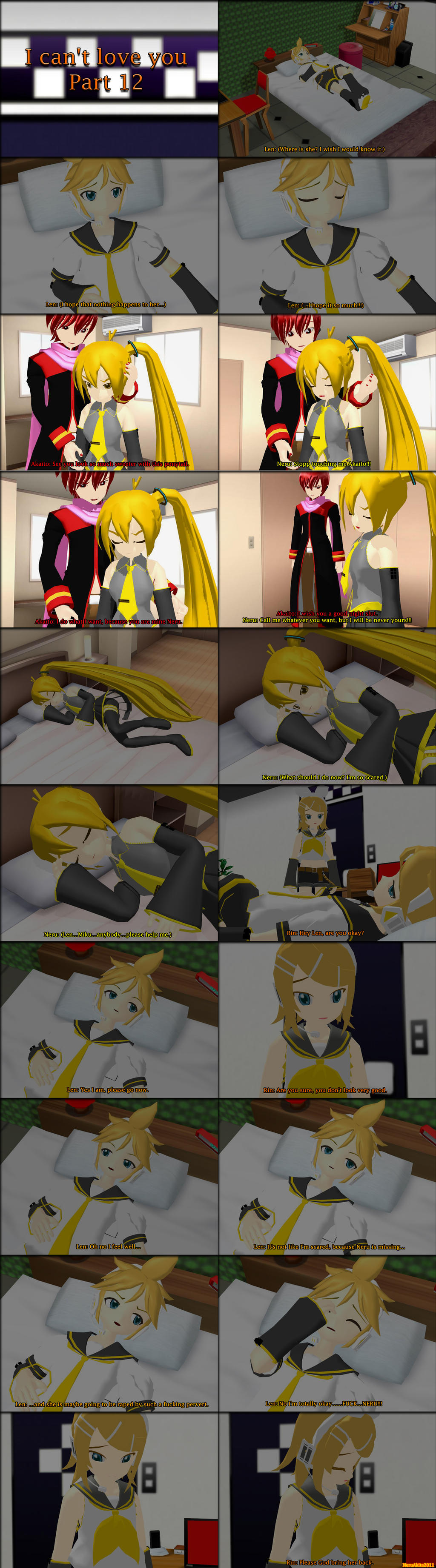 Mmd Neru X Len X Akaito I Can T Love You Part3 By - Imagez co