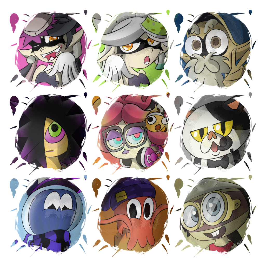 (Splatoon) NPCs by GenoTheCreeper