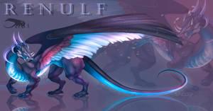 [CLOSED] Adopt auction - RENULF (neon dragon)