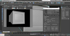 Modeling a CRT display in 3DS Max 2017