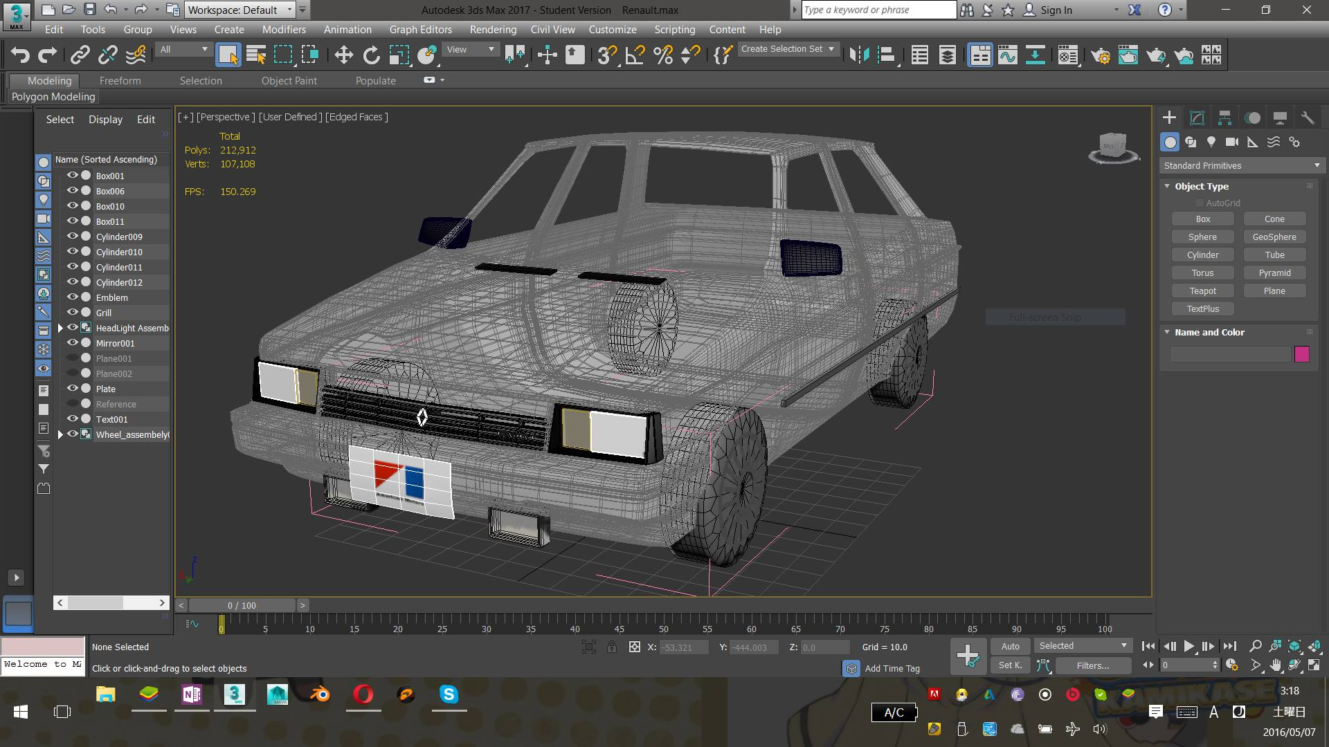 Building a Renault Alliance in 3DS Max