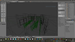 Wireframe of an interior