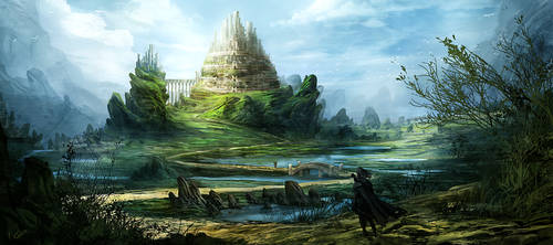 distant castle by Athayar