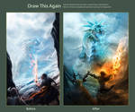 Draw this again : Ice dragon