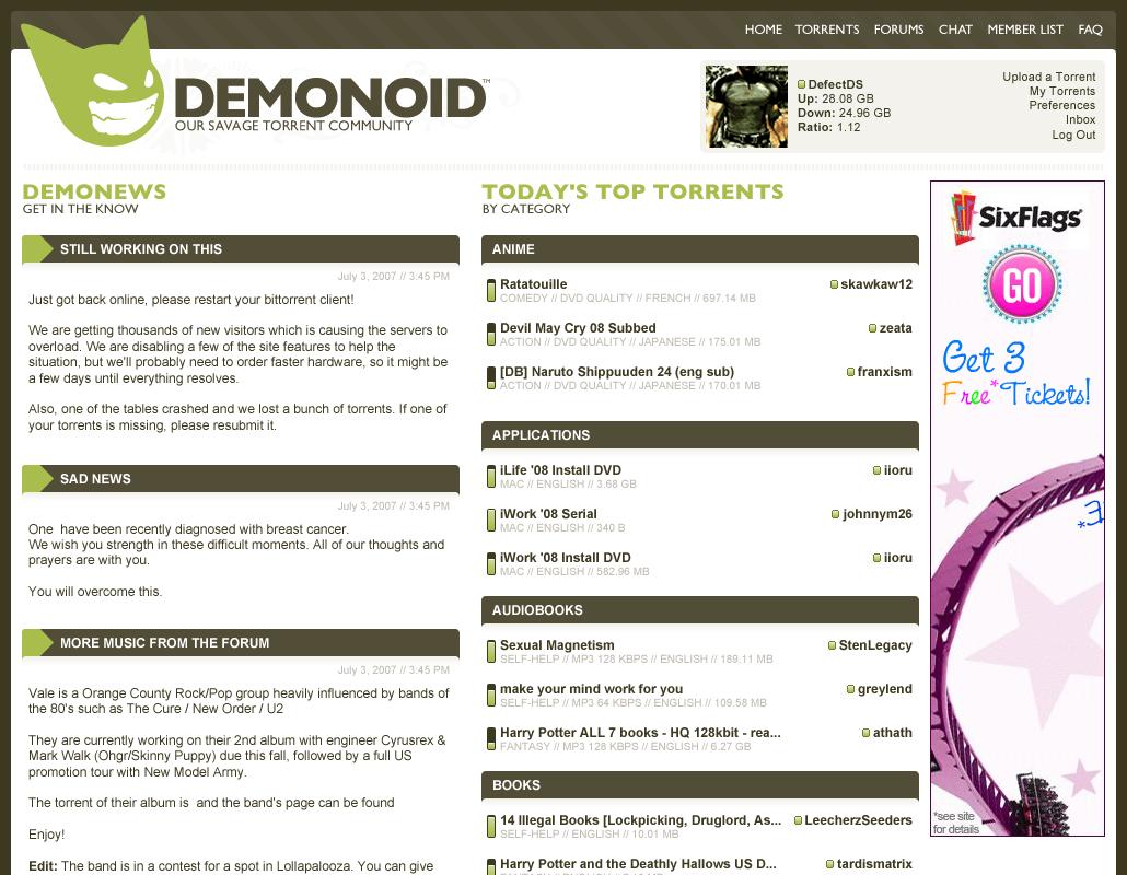 Demonoid Redesign by BlakliteGraphics