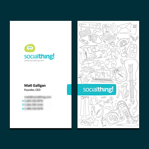 Socialthing Business Card by =BlakliteGraphics