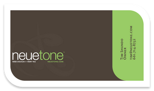NeueTone Business Card Concept by BlakliteGraphics