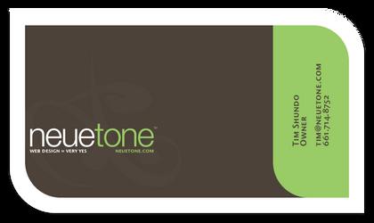 NeueTone Business Card Concept by BlakliteGraphics