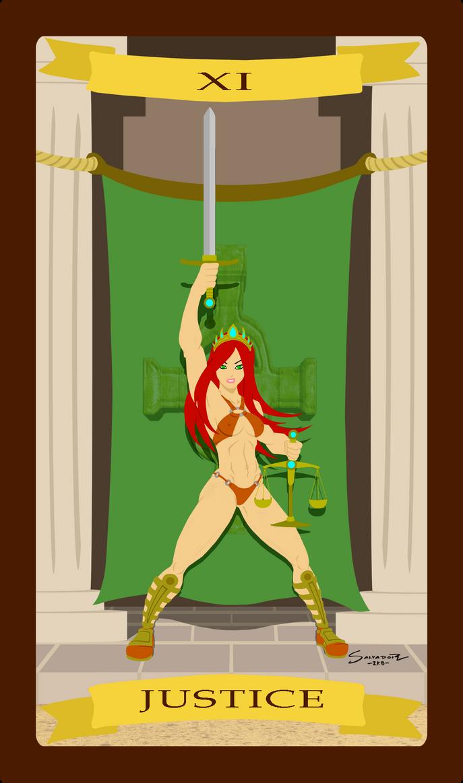 Tarot - XI JUSTICE by K-bron