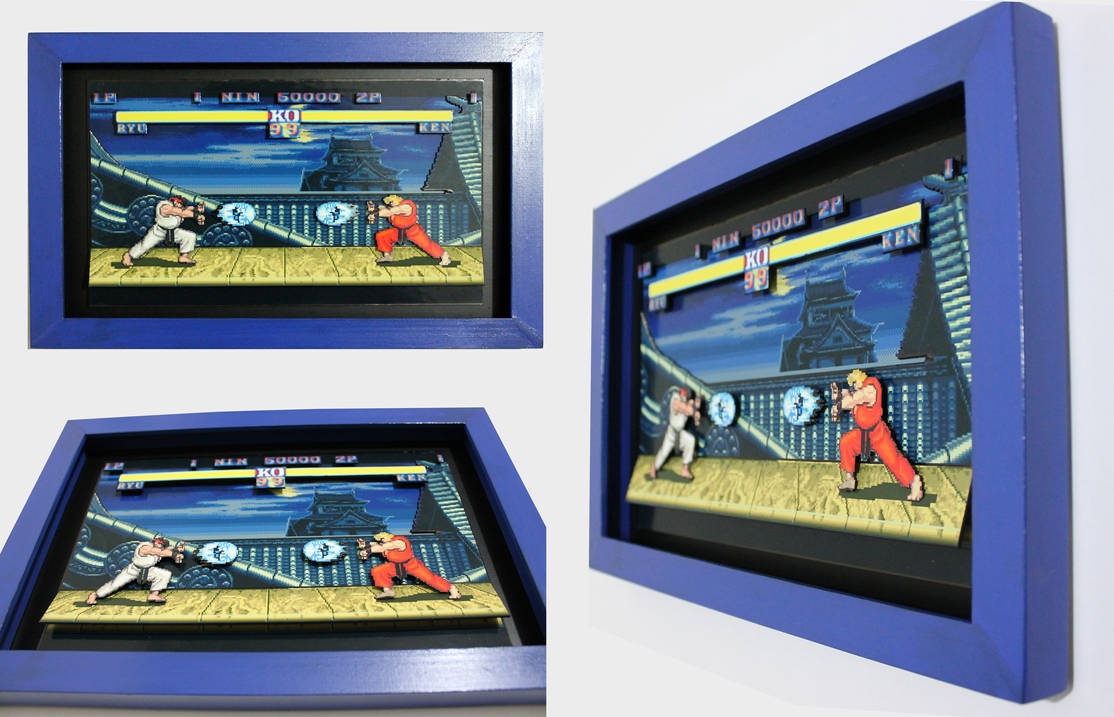 Shadowbox - Street Fighter II - Ryu Stage