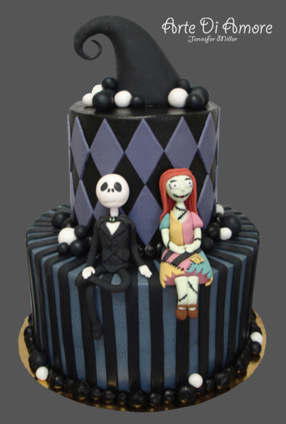 jack sally nightmare before christmas wedding cake topper and sally cake by artediamore on deviantart 16562