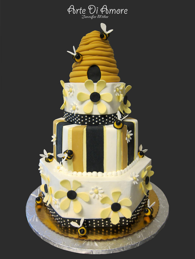Beehive Cake by ArteDiAmore on DeviantArt