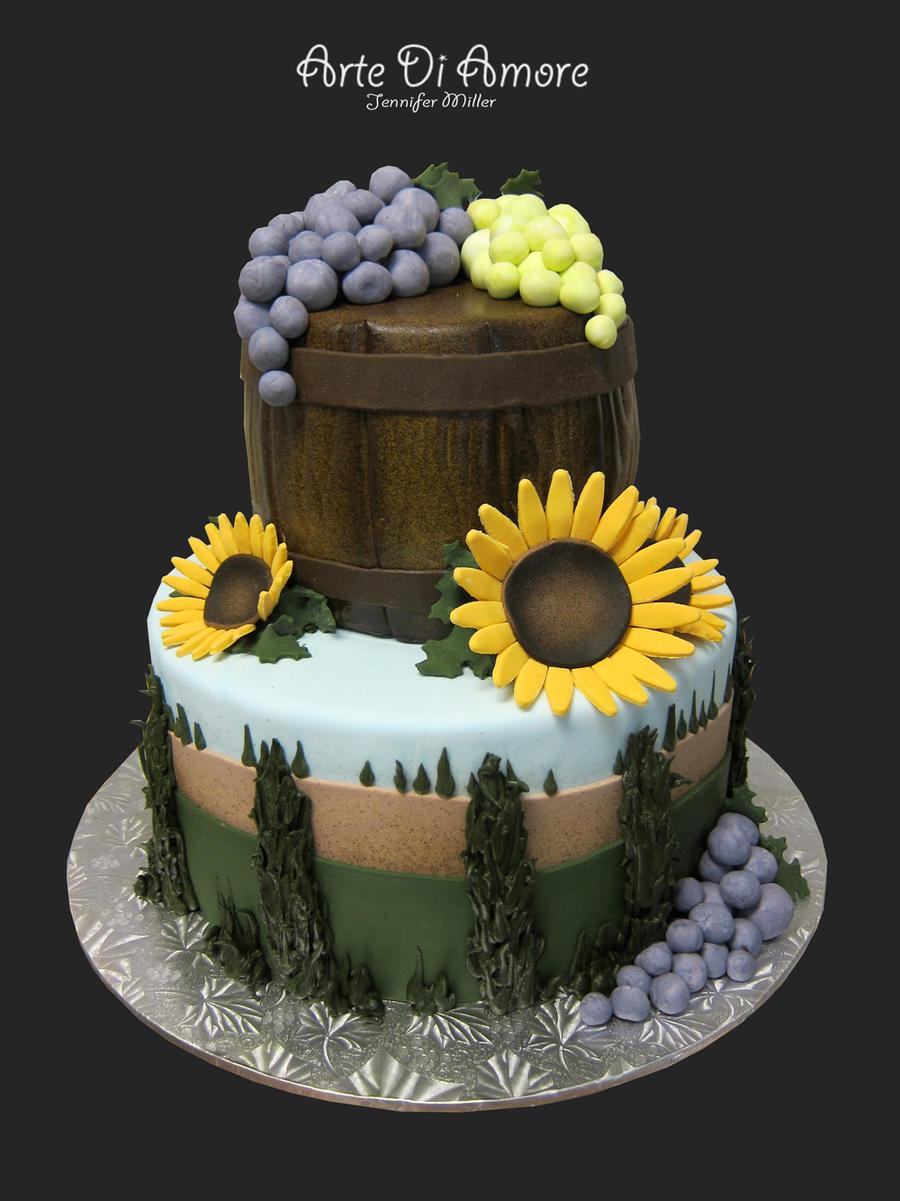 Tuscany Inspired Cake by ArteDiAmore