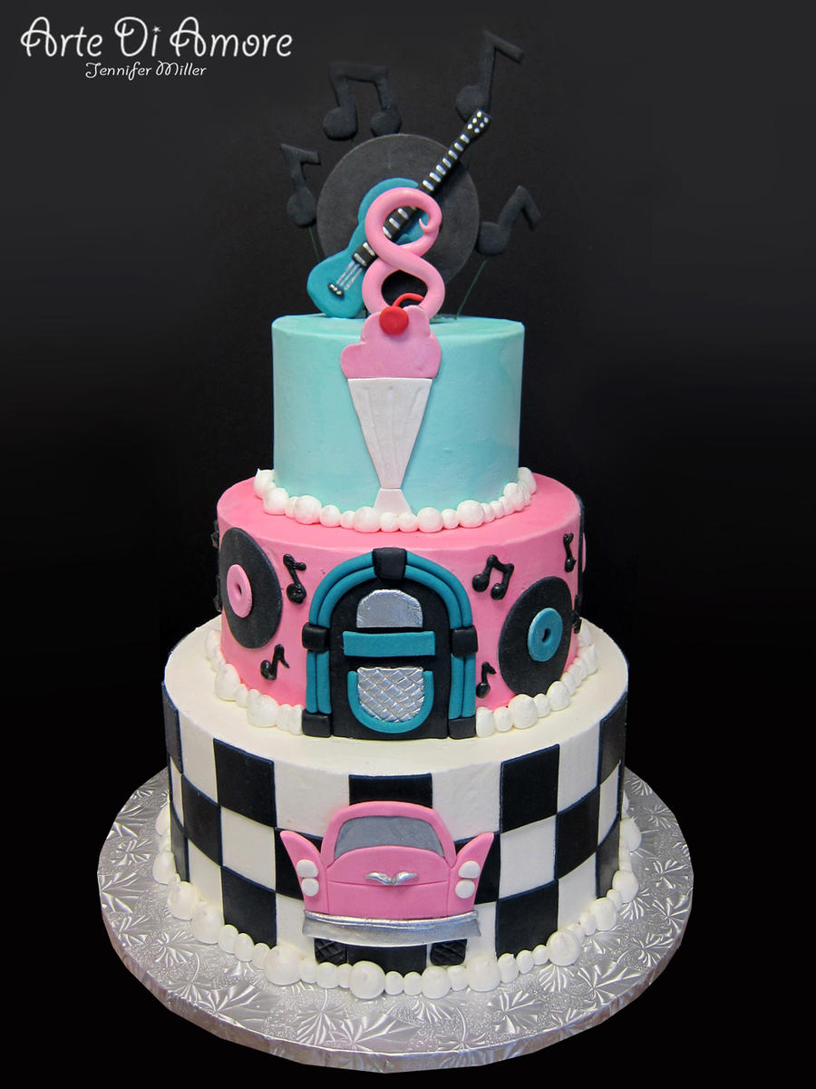 50's Cake by ArteDiAmore