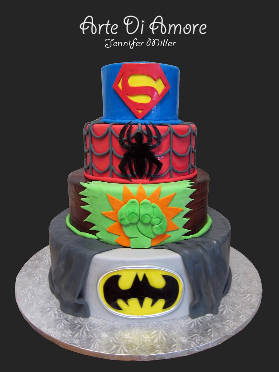 Super Hero Cake by ArteDiAmore
