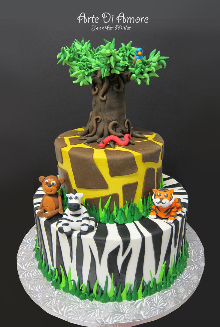 Jungle Cake Decorations : Safari Cake by ArteDiAmore on DeviantArt