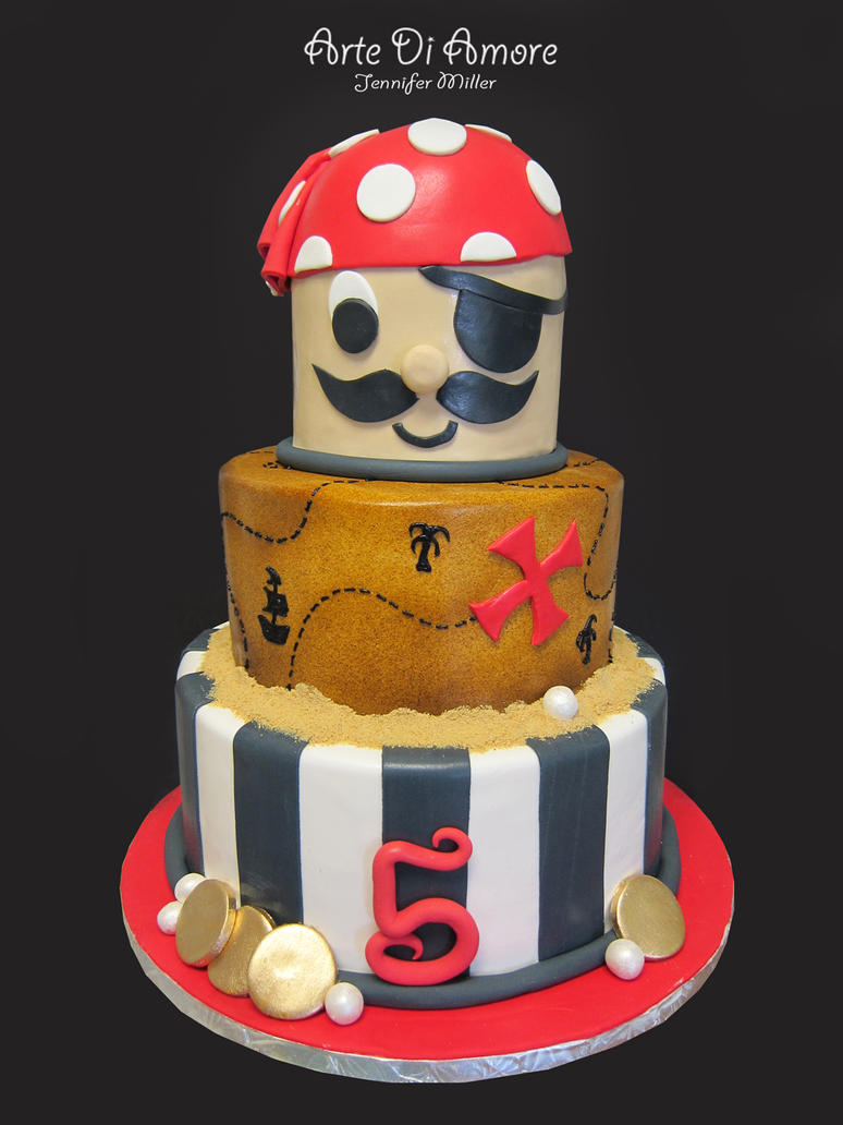 Pirate cake - photo#21