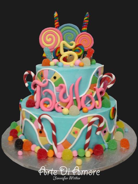 Candyland Cake By Artediamore On Deviantart