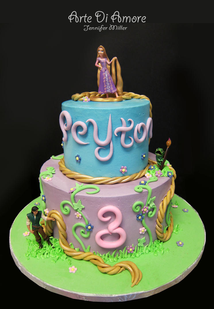 Tangled Birthday Cake Figurines