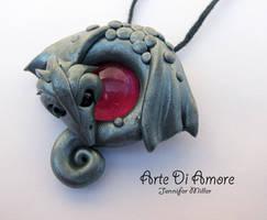 Silver Dragon Pendant by ArteDiAmore