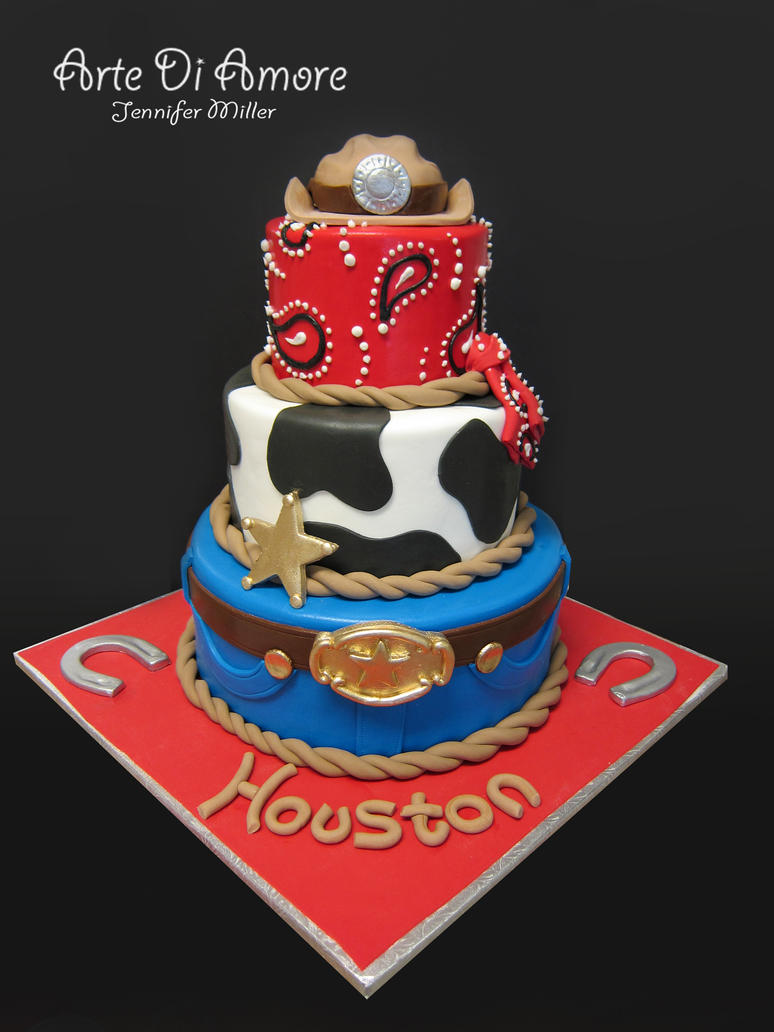 Cowboy Cake by ArteDiAmore on DeviantArt