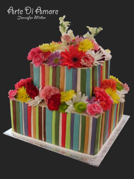 Bright Colorful Cake