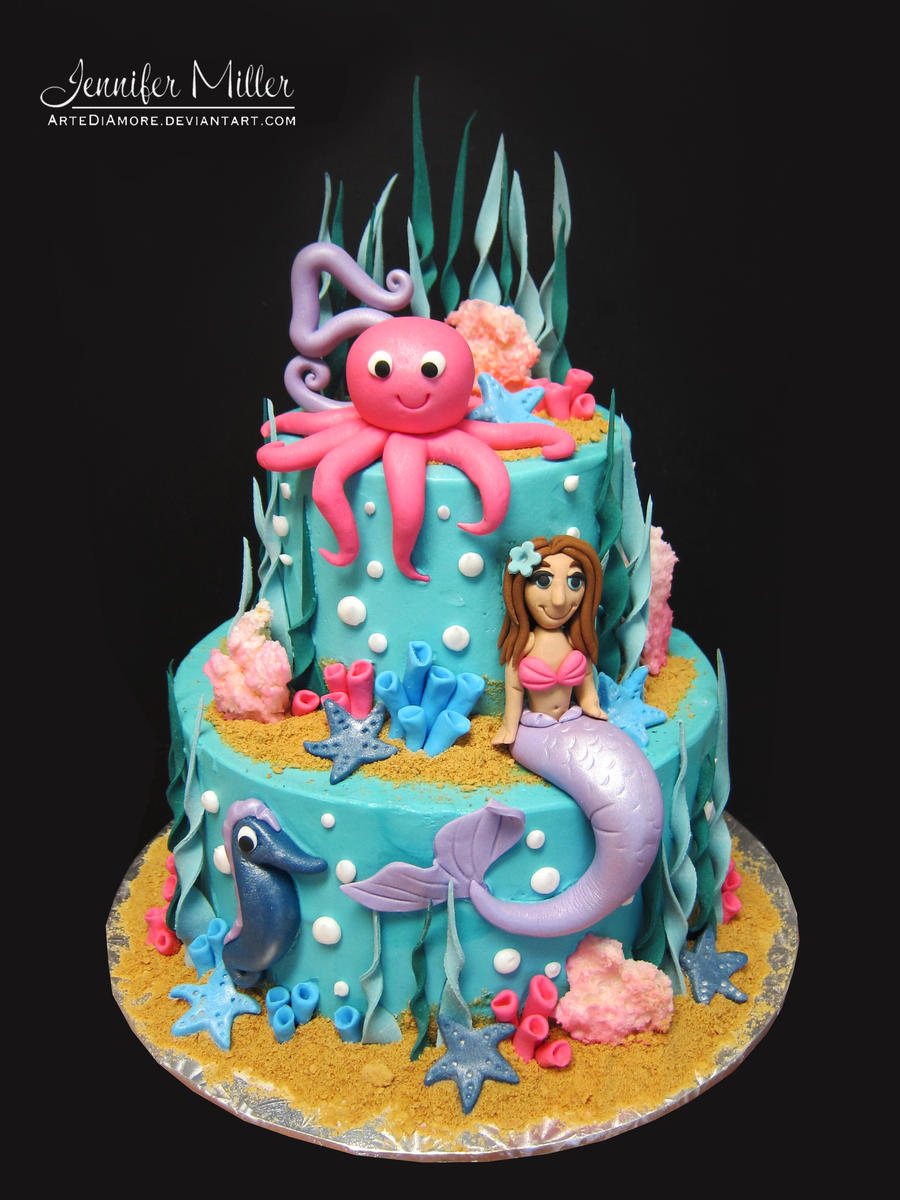 under the sea on Pinterest | Mermaid Cakes, Little Mermaid Cakes and Ocean Cakes
