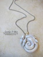 Mother and Baby Dragon Pendant by ArteDiAmore