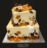 Autumn Bridal Shower Cake by ArteDiAmore