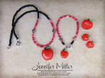 Red Apple Jewelry Set