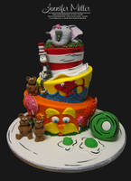 Dr. Suess Cake by ArteDiAmore