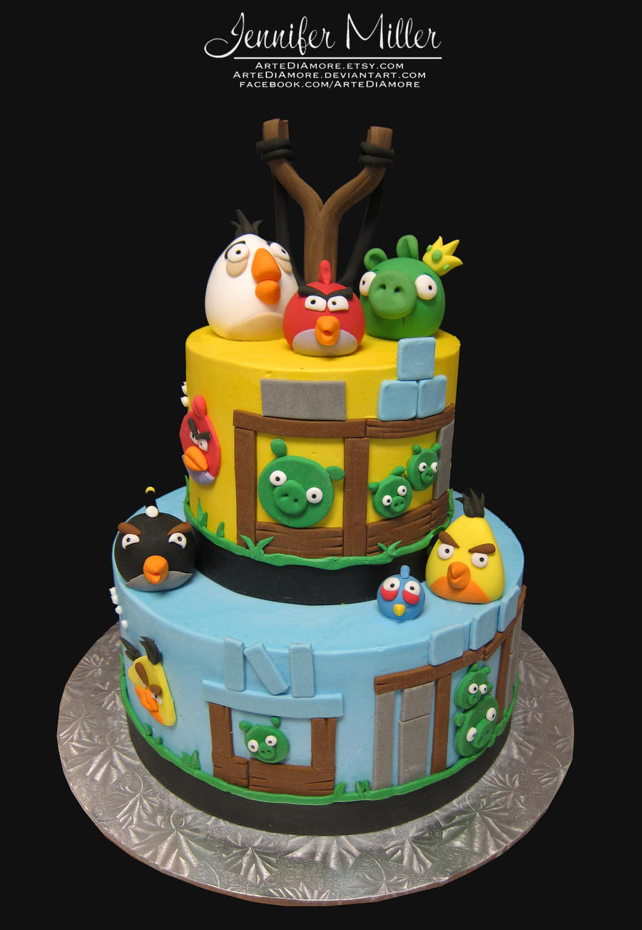 Angry birds cake by artediamore on deviantart for Angry birds cake decoration