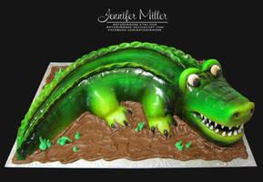 Alligator Cake by ArteDiAmore