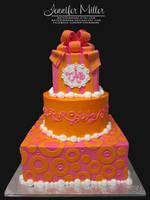 Pink and Orange Cake by ArteDiAmore