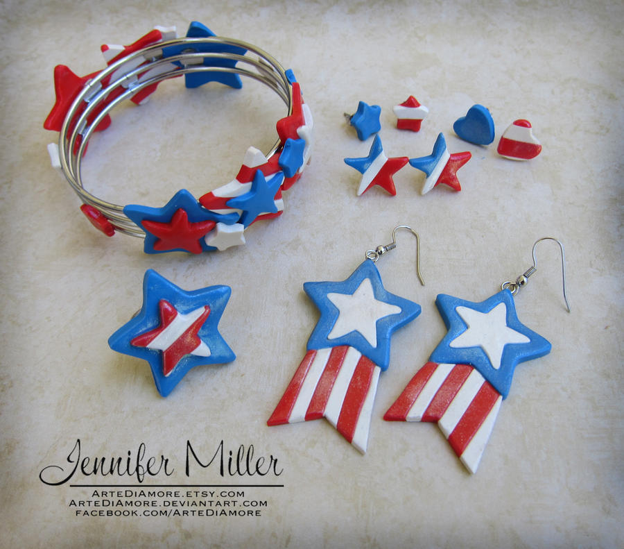 Fabulous 4th of July Jewelry by ArteDiAmore