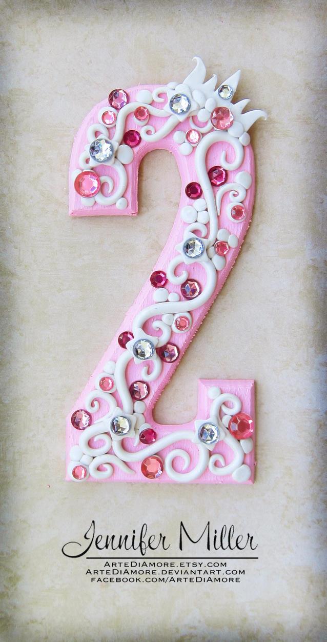 Art Cake Kuwait Number : Pink Princess Number Cake Topper by ArteDiAmore on DeviantArt