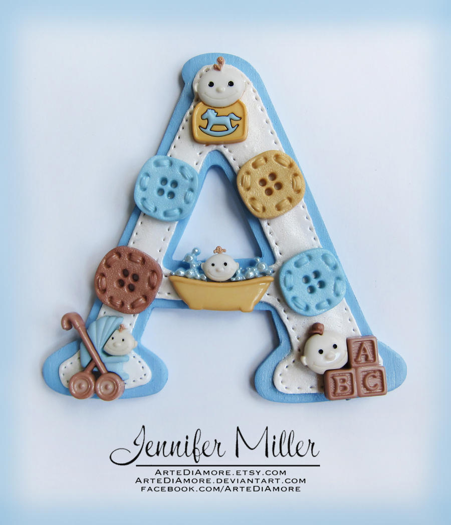 Boy Baby Shower Cake Topper by ArteDiAmore