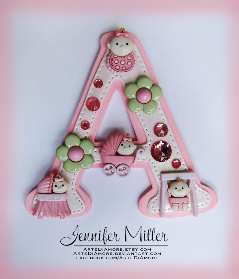 Girl Baby Shower Cake Topper by ArteDiAmore