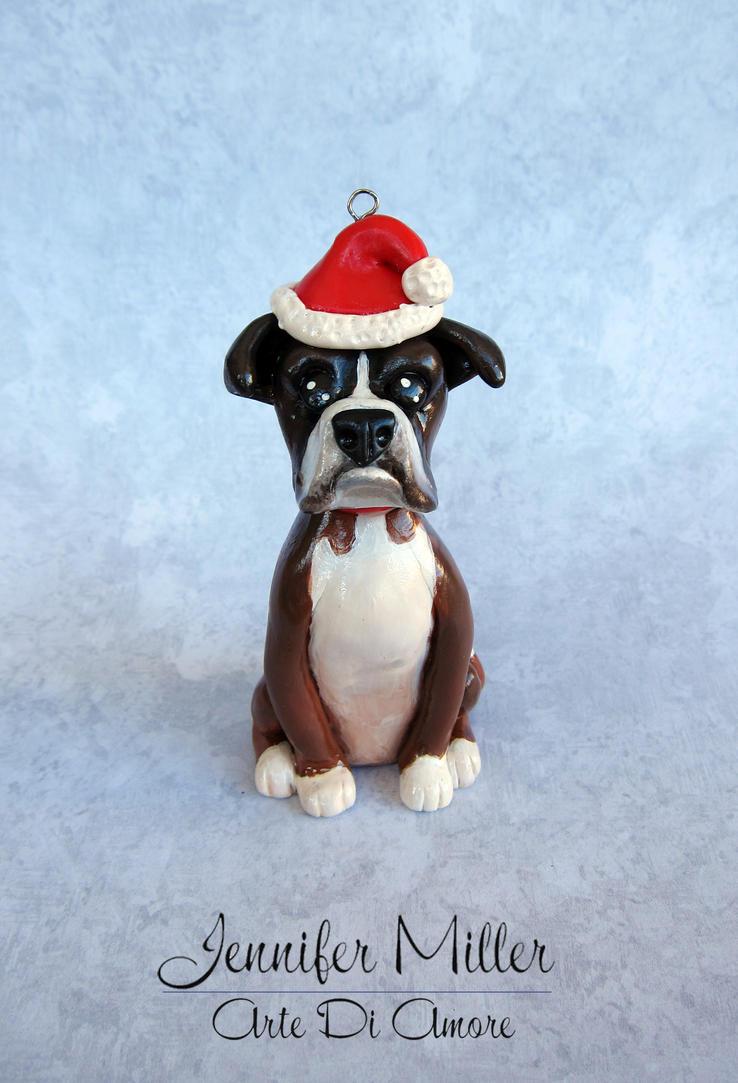 Custom Pet Ornament - Boxer by ArteDiAmore