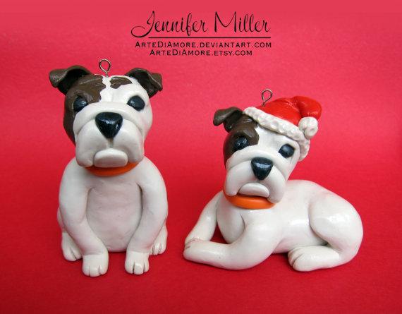 Custom Pet Ornaments - Bulldogs by ArteDiAmore