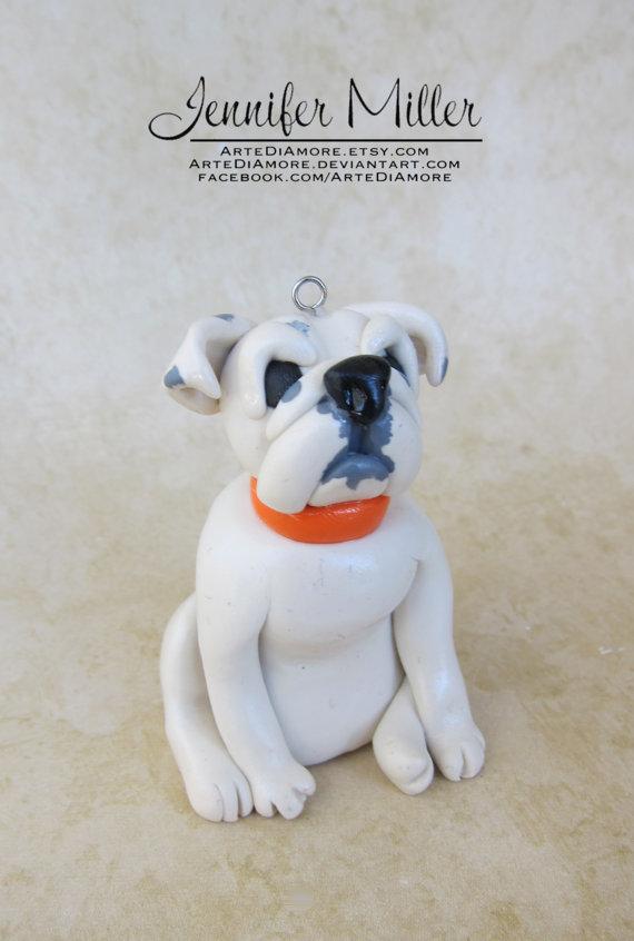Custom Pet Ornaments - Bulldog by ArteDiAmore