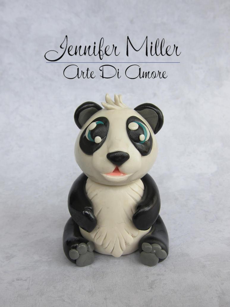 Panda Cake Topper Figurine by ArteDiAmore